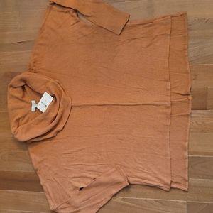 NWT Status by Chenault mustard yellow rust dolman long sleeve light sweater